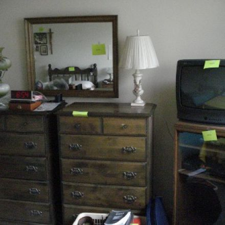 Household Downsizing for client - BEFORE: bedroom in apt. being vacated