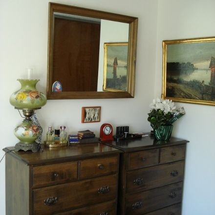 New Residence Decor for client - AFTER: bedroom in assisted-living apartment