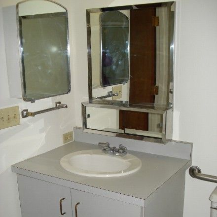 New Residential Decor for client - BEFORE: bathroom in assisted-living apt. prior to design touches